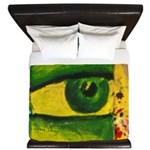 The Eye - Gold & Emerald Awareness King Duvet