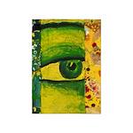 The Eye - Gold & Emerald Awareness 5'x7'Area Rug