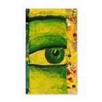 The Eye - Gold & Emerald 35x21 Wall Decal