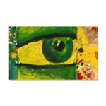 The Eye - Gold & Emerald 20x12 Wall Decal