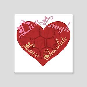 """Love_chocolateshirt_vertica Square Sticker 3"""" x 3"""""""