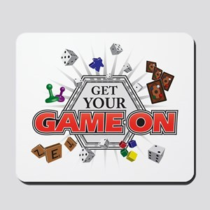 Get Your Game On - Black Mousepad