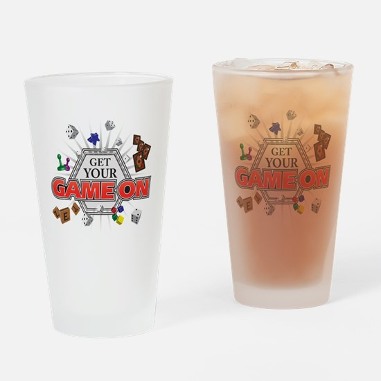 Get Your Game On - Black Drinking Glass