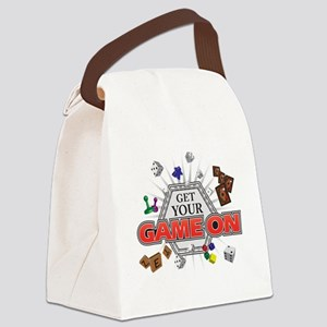 Get Your Game On - Black Canvas Lunch Bag