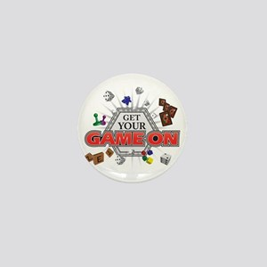 Get Your Game On - Black Mini Button