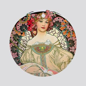 Pillow Mucha Champ Round Ornament