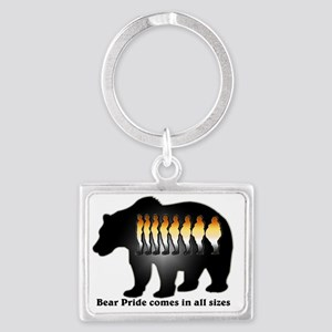 Bear Pride comes in all sizes Landscape Keychain