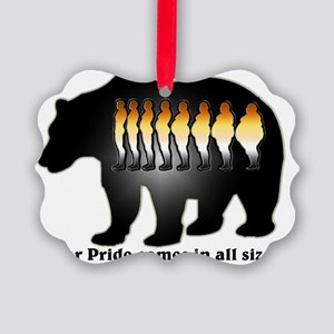 Bear Pride comes in all sizes Picture Ornament