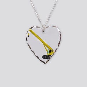 Crane Necklace Heart Charm