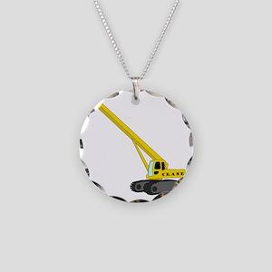 Crane Necklace Circle Charm