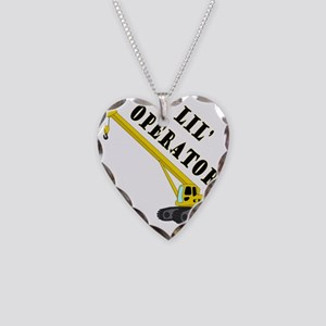 Lil Crane Operator Necklace Heart Charm