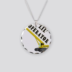 Lil Crane Operator Necklace Circle Charm