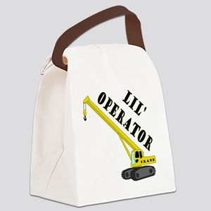 Lil Crane Operator Canvas Lunch Bag