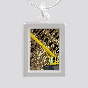 Lil Crane Operator 2 Silver Portrait Necklace