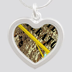 Lil Crane Operator 2 Silver Heart Necklace