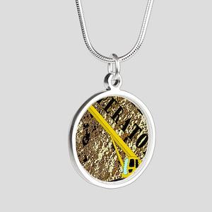 Lil Crane Operator 2 Silver Round Necklace