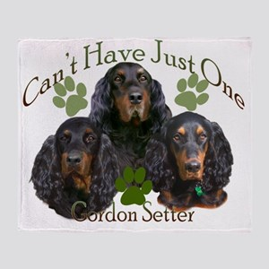 Gordon Setter Cant Have Just One fin Throw Blanket