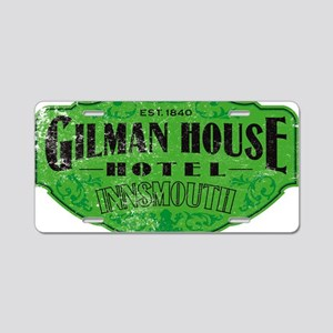 GILMAN HOUSE HOTEL Aluminum License Plate