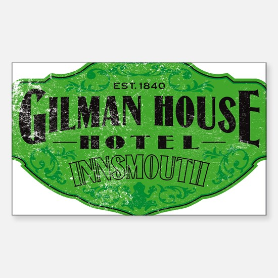 GILMAN HOUSE HOTEL Sticker (Rectangle)