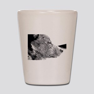 ACD Puppy Pondering Shot Glass