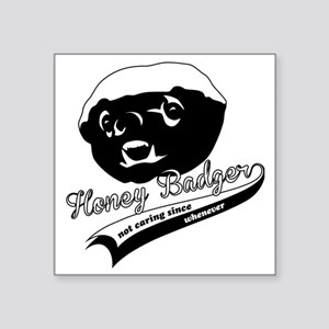 "Honey Badger Design Square Sticker 3"" x 3"""