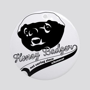 Honey Badger Design Round Ornament