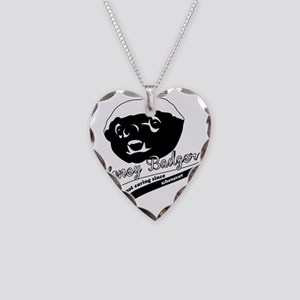 Honey Badger Design Necklace Heart Charm