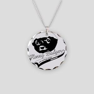 Honey Badger Design Necklace Circle Charm