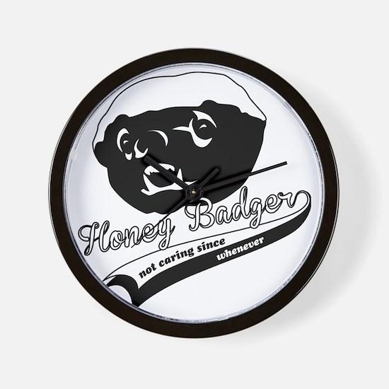 Honey Badger Design Wall Clock