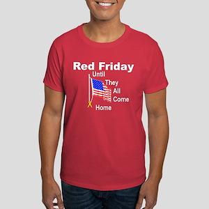 Red Friday (yellow ribbon) Dark T-Shirt