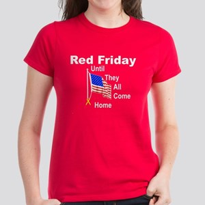 Red Friday (yellow ribbon) Women's Dark T-Shirt