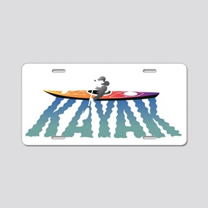 kayak ripple drk Aluminum License Plate