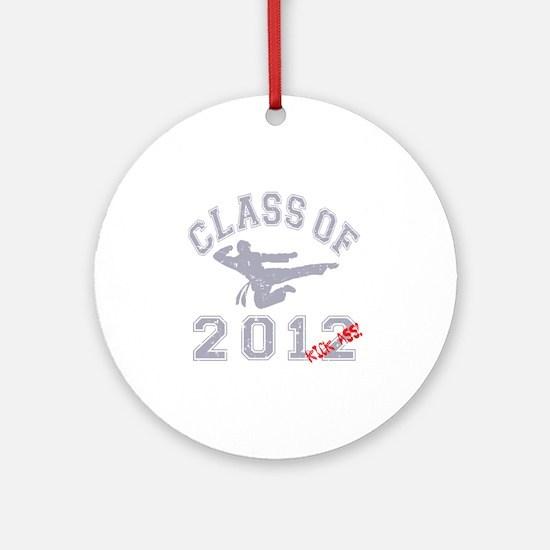 Class Of 2012 Kick Ass - Grey 2 D Round Ornament