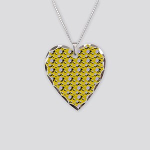bumble bee Necklace Heart Charm