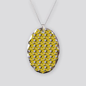 bumble bee Necklace Oval Charm