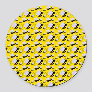 bumble bee Round Car Magnet