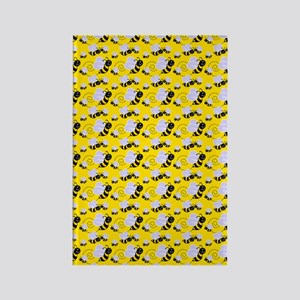 bumble bee Rectangle Magnet
