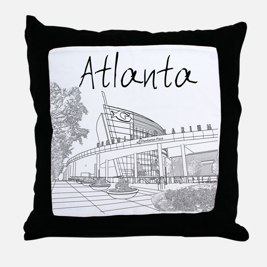Atlanta_10x10_GeorgiaAqarium_Black Throw Pillow