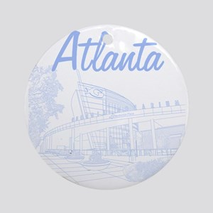 Atlanta_10x10_GeorgiaAqarium_LightB Round Ornament