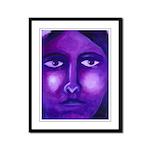 Watching, Goddess Framed Panel Print