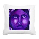 Watching, Goddess Square Canvas Pillow