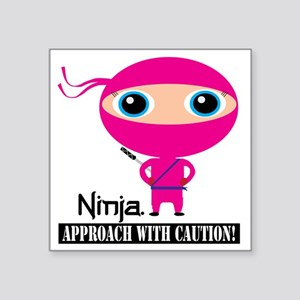 "Girl-Ninja Square Sticker 3"" x 3"""