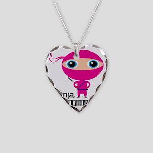 Girl-Ninja Necklace Heart Charm