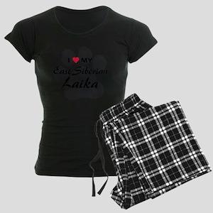 east-siberian-laika Women's Dark Pajamas