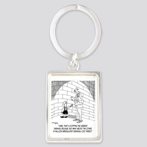 7939_water_cartoon Portrait Keychain