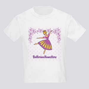 Personalize Your Purple Ballerina! Kids Light T-Sh