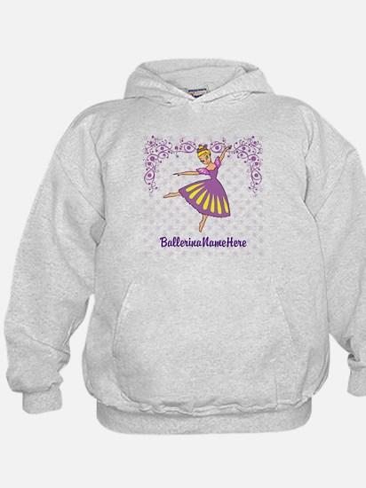 Personalize Your Purple Ballerina! Hoodie