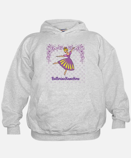 Personalize Your Purple Ballerina! Hoody