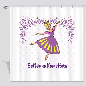 Personalize Your Purple Ballerina! Shower Curtain