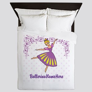 Personalize Your Purple Ballerina! Queen Duvet